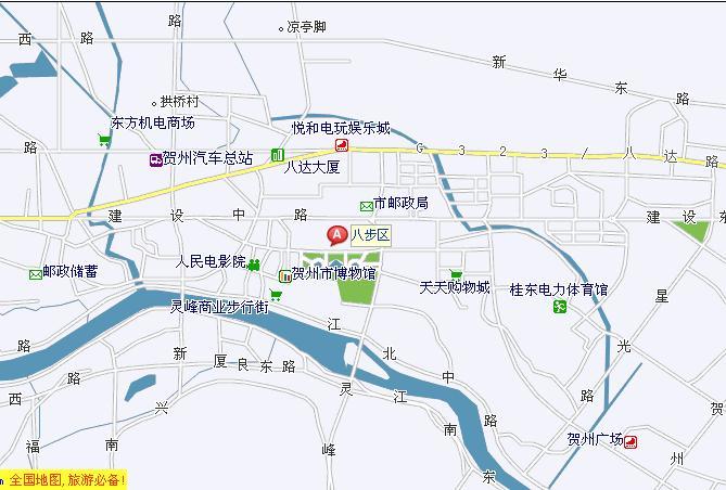 南与梧州市苍梧县交界,西与广西钟山,昭平两县接壤,北与湖南江华县相