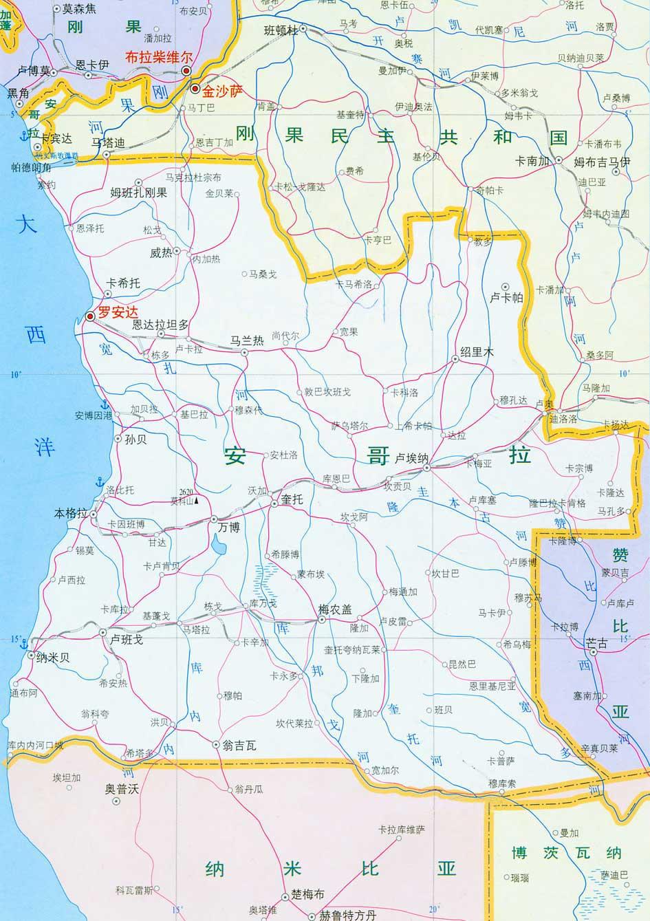 安哥拉地图_安哥拉地图查询
