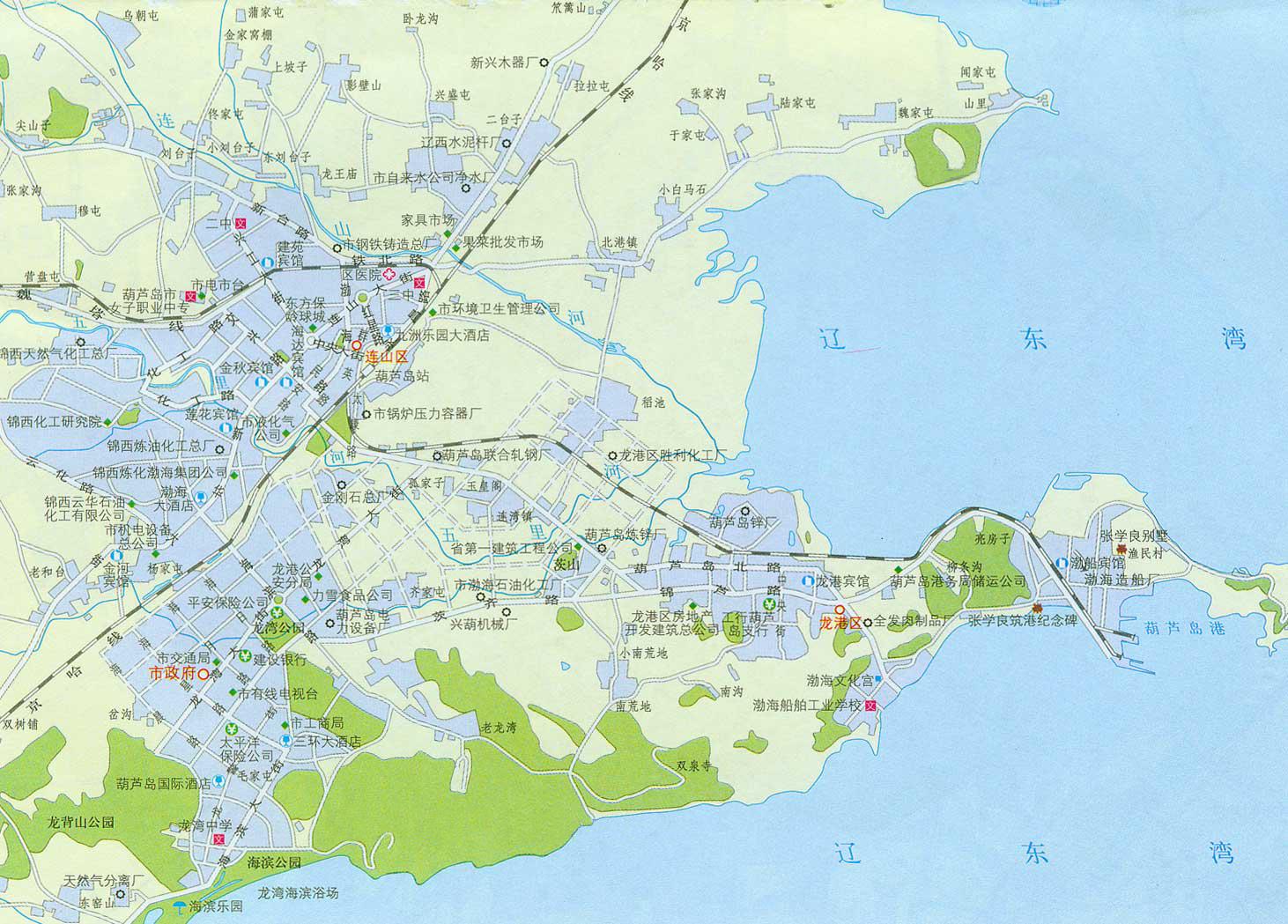 葫芦岛市区地图_葫芦岛市区地图查询